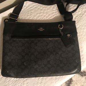 COACH CROSSBODY HANDBAG BLACK/GREY